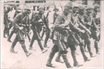 Photo: Soldiers of the third army marching