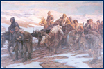 Painting: Turkish soldiers returning from the defeat in the Balkan war