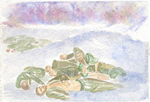 Painting: Frozen Turkish soldiers